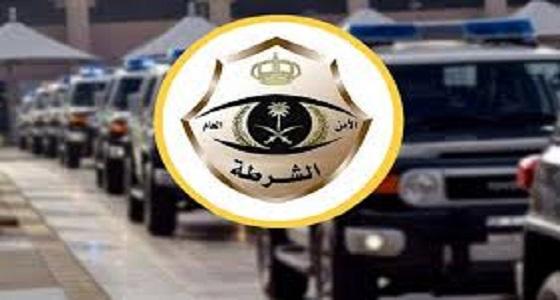 شرطة مكة تلقي القبض على أحد المتورطين بالعبث بالمركبات