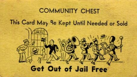 Monopoly jail card