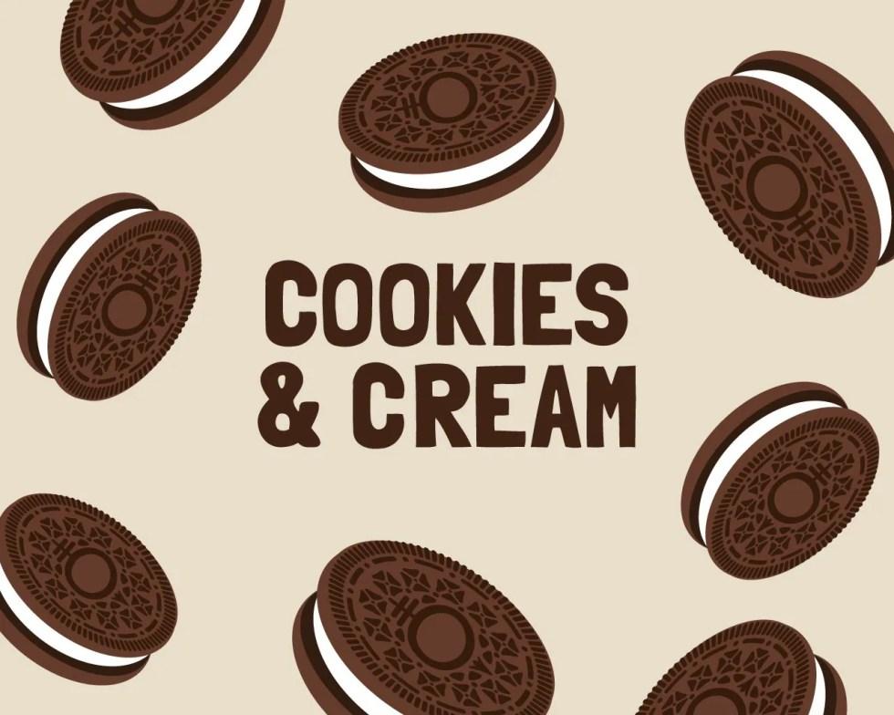 Slab Artisan Fudge - Cookies & Cream Flavour Graphic