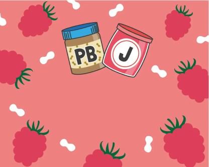 Slab Artisan Fudge - Vegan PB & J Flavour Graphic 2