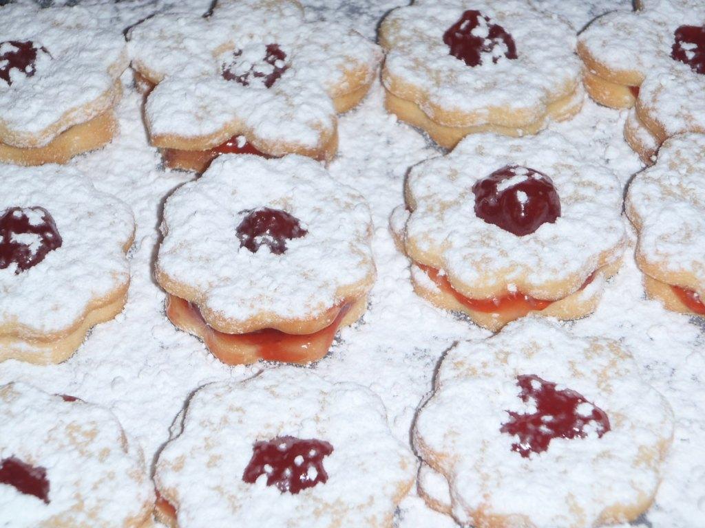 Linecké koláčiky, pečenie na vianoce