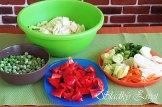 Čínske kuracie mäso so zeleninou