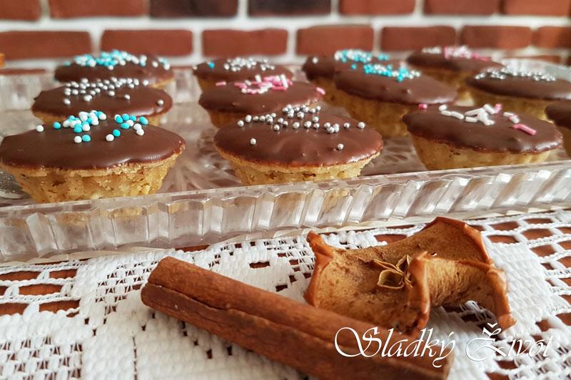 Orechové košíčky, drobné koláčiky, vianočné pečenie, sladký život