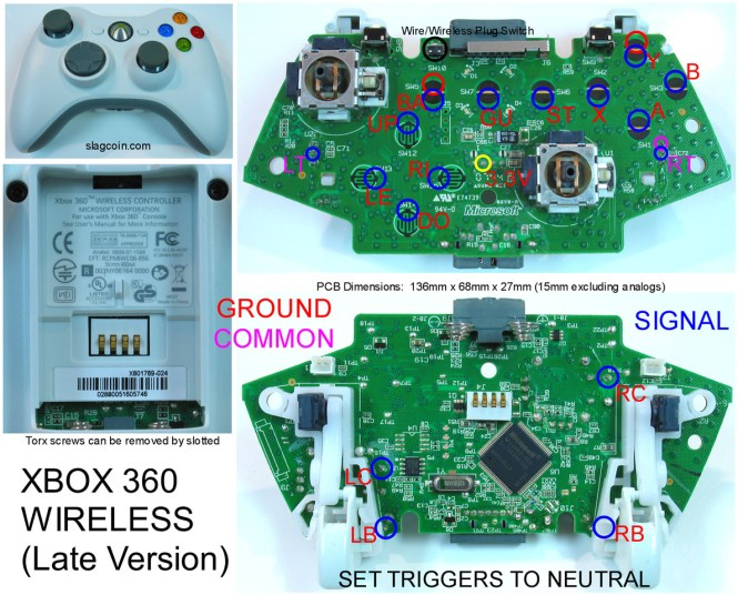 xbox controller wiring schematic wiring diagram wireless 360 controller parts schematic auto wiring