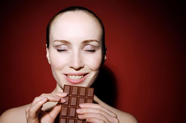 chocolade eten afvallen