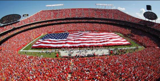 Kansas City Chiefs Halftime Show - Flag