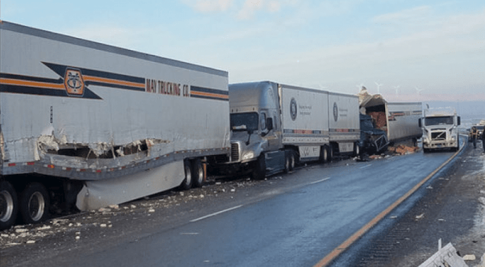 Trucker Shortage - icy roads