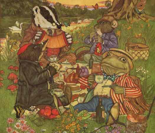 Wind In The Willows food picnic illustration by Michael Hague