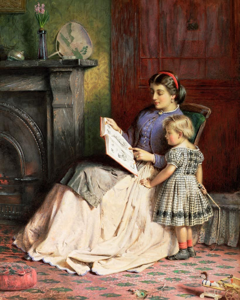George Goodwin Kilburne - Mother and Daughter reading