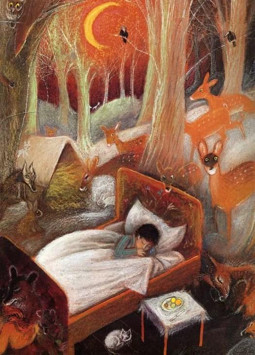 Józef Wilkón Boy Sleeping