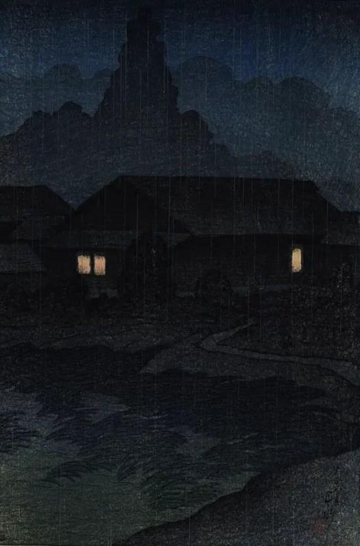 Tsuta Spa, Mutsu 1919 by Kawase Hasui