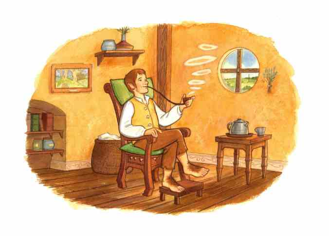 Bilbo Baggins, illustration by Vincent Boyer