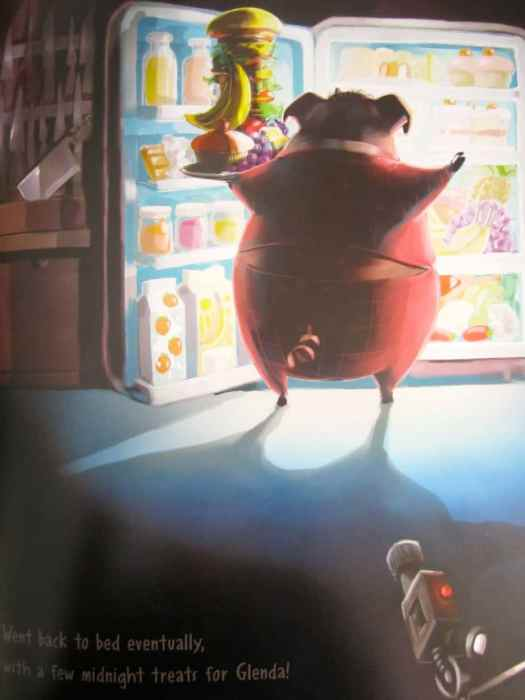 Mr Pork-Fowler Stands In The Glow Of The Fridge