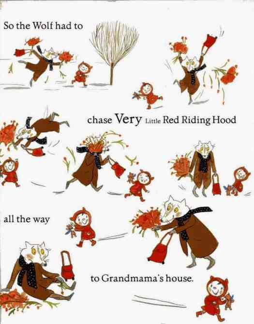 Very Little Red Riding Hood action scene
