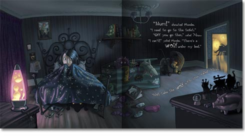 Phoebe and the Night Creatures Double Spread