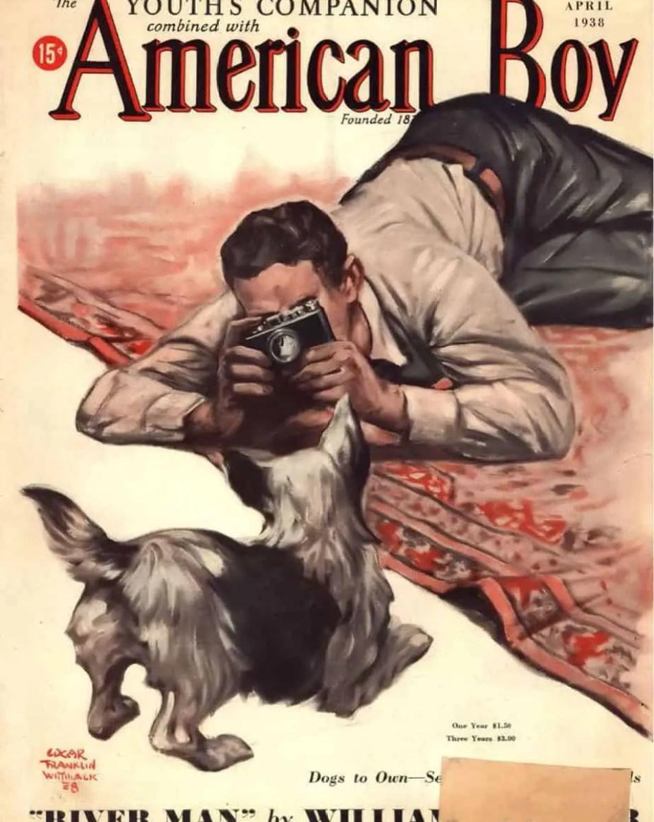 The American Boy, April 1938. Art by Edgar Franklin Wittmack