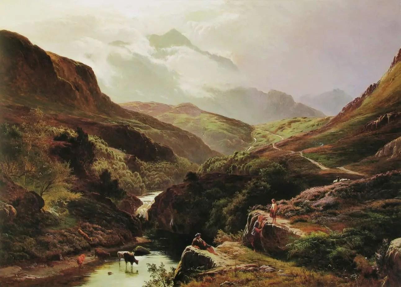 Sidney Richard Percy - Road to Loch Turret 1868