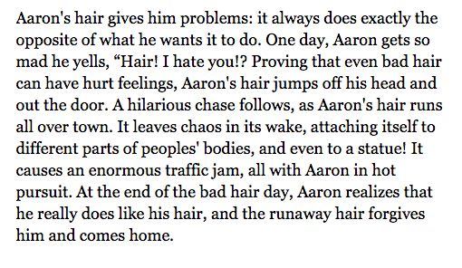 Marketing Copy of Aaron's Hair