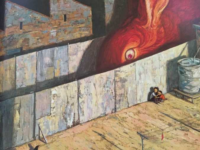 In Rules Of Summer, Shaun Tan plays with scale a lot to lend a sense of foreboding.