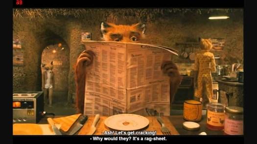 Fantastic Mr Fox breakfast