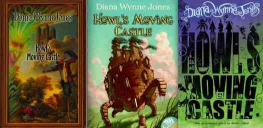 Howl's Moving Castle three book covers