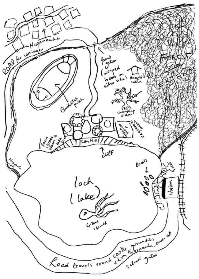 J K Rowling sketch map