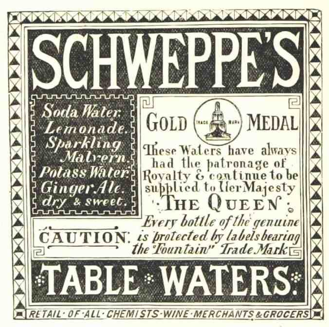 Enid Blyton food drink schweppe's advertisement