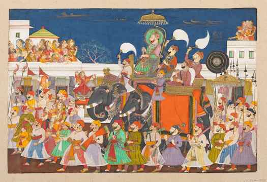 This is Mughal painting -- a style from South Asia.
