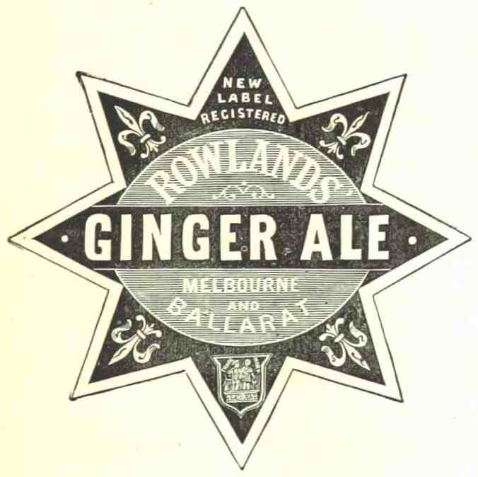Ginger ale advertisement from 1880