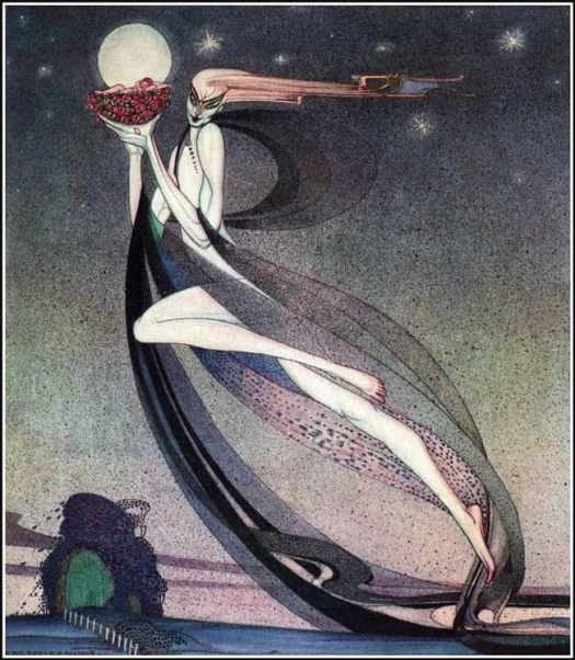 In Powder and Crinoline, 1912 Kay Nielson moon incorporated