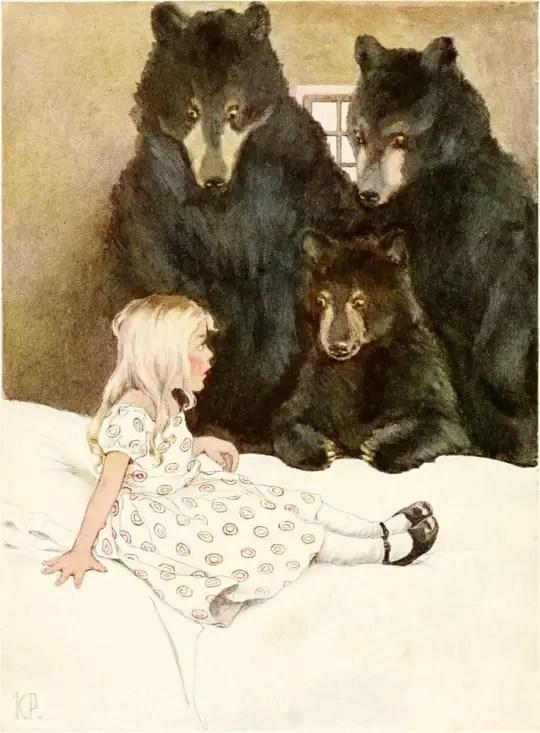 Goldilocks and the Three Bears by Katharine Pyle - Boucle d'OrGoldilocks and the Three Bears by Katharine Pyle - Boucle d'Or