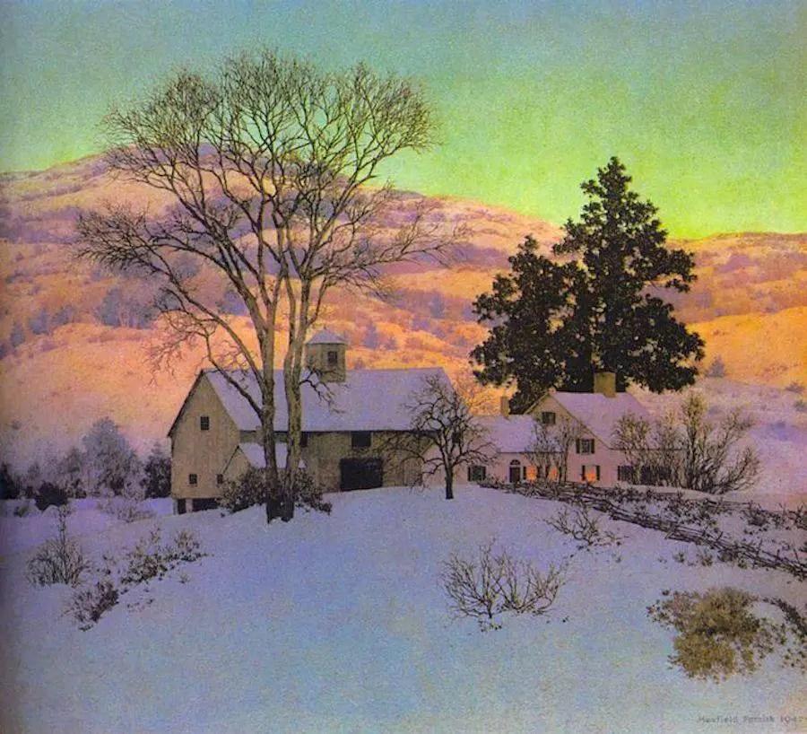 Maxfield Parrish- Winter Wonderland