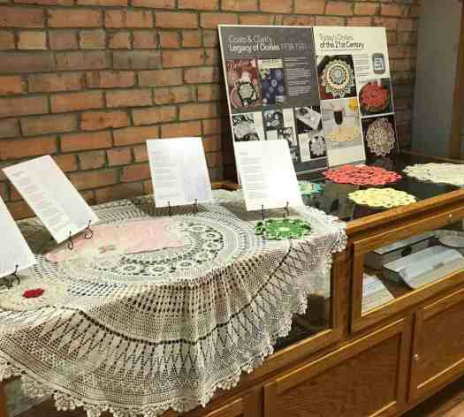 The Celebrate Doilies exhibit at the Spellman Museum, Forney, Texas