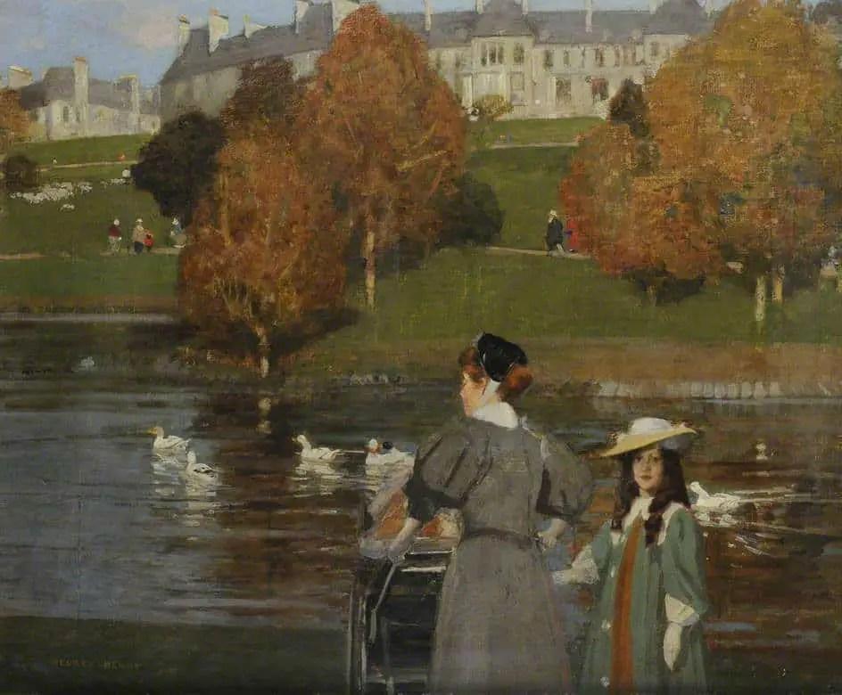 Nursemaid in Kelvingrove Park by George Henry