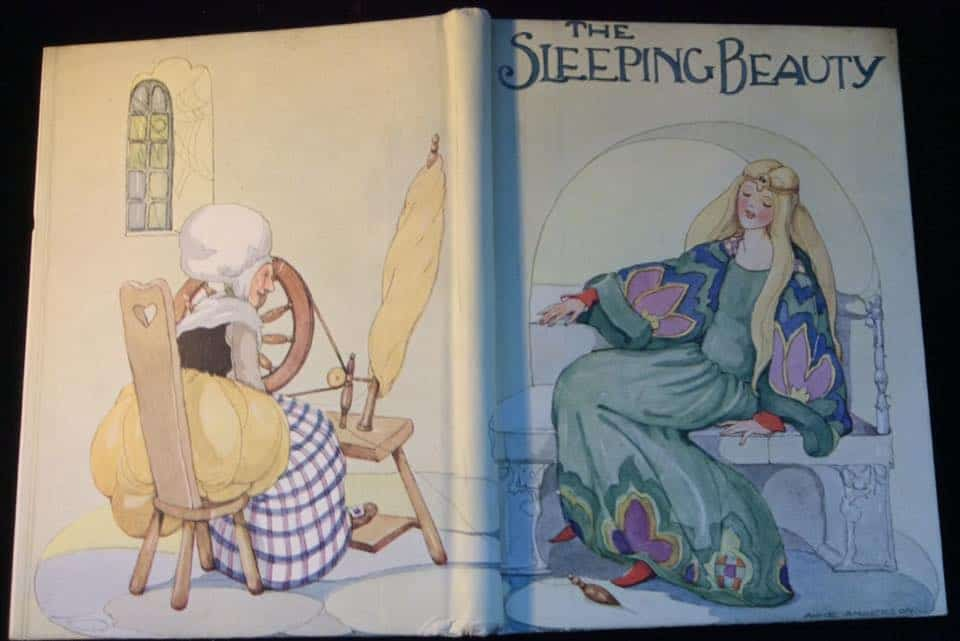 The Sleeping Beauty Scottish illustrator Anne Anderson ( 1874 - 1952 )