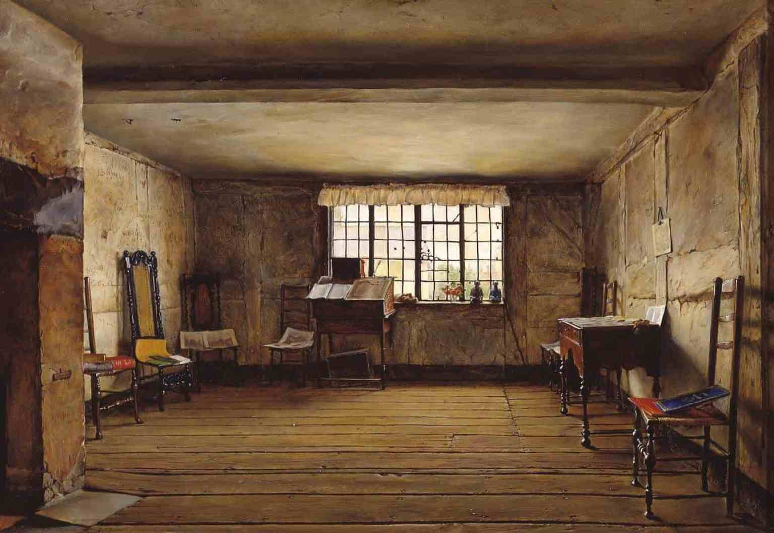 Henry Wallis - The Room in Which Shakespeare Was Born 1853