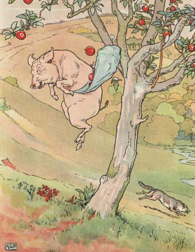 pig-jumping-from-tree