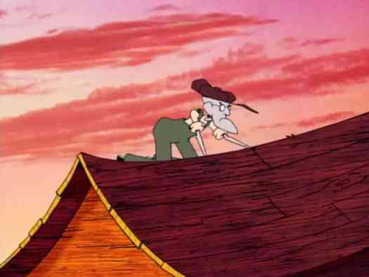 eustace on the roof doctor le quack