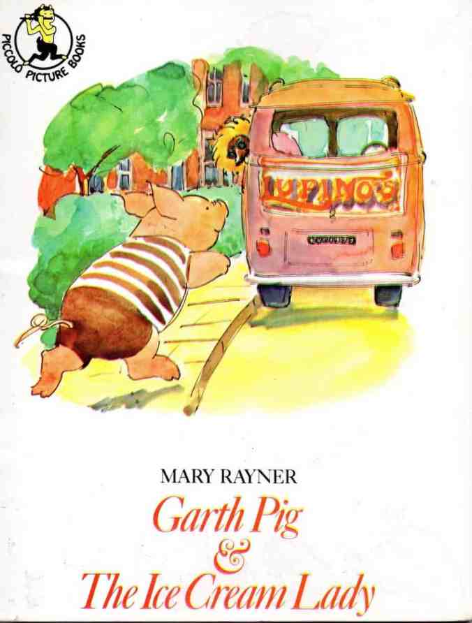 garth pig runs after ice cream van
