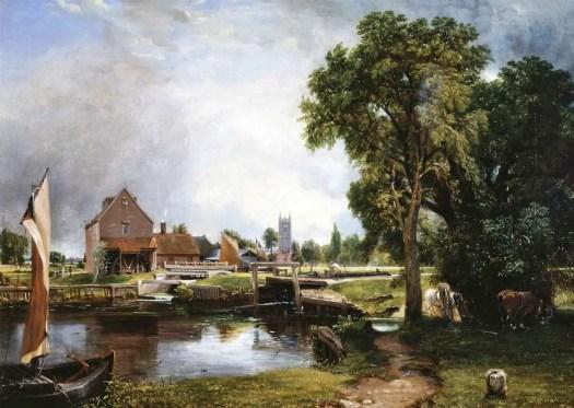 Dedham Lock and Mill 1820 John Constable 1776-1837