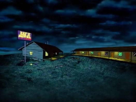 Establishing shot of the Katz Motel.