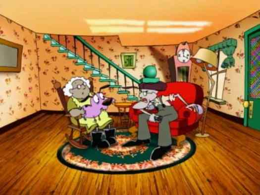 Eustace and Muriel's living room