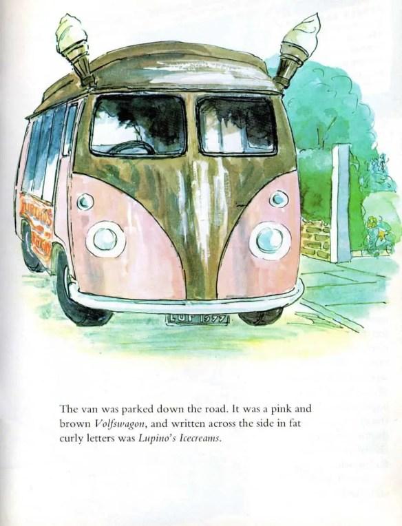 ice cream van with ice cream horns in garth pig
