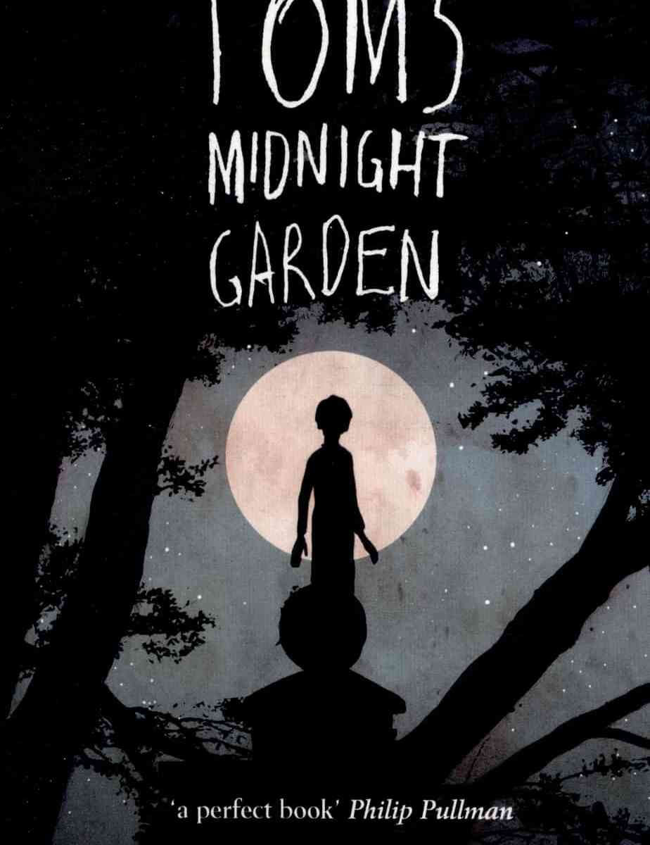 Tom's Midnight Garden cover with moon and boy silhouette
