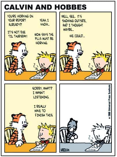 psychotropic drugs calvin and hobbes