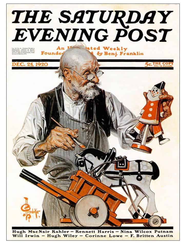 J.C. Leyendecker- the toy maker
