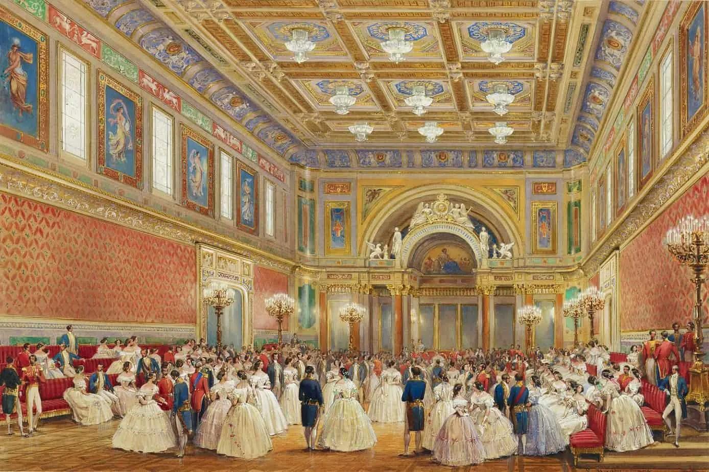 Louis Haghe - The Ballroom, Buckingham Palace, 17 June 1856
