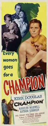 Champion 1949 film poster
