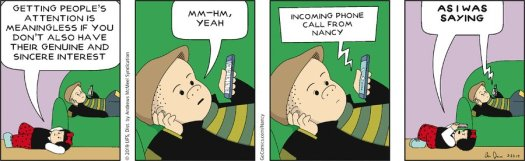 Nancy sincere interest