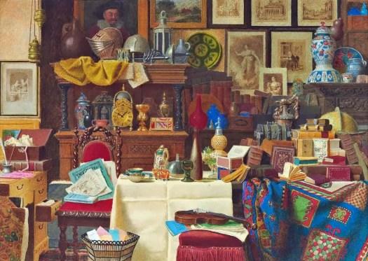 Benjamin Walter Spiers - An interior, a still life